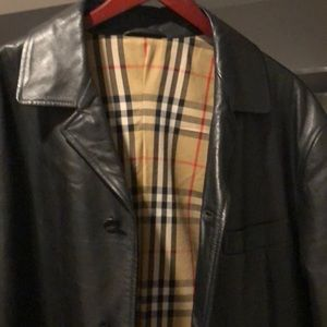 Burberry Lambskin Men's Jacket Large